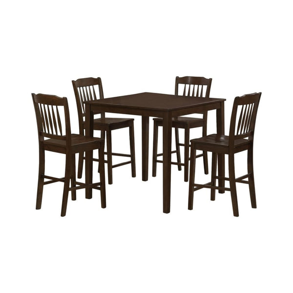Monarch Specialties Veneer Counter Height Dining Set Cappuccino 5 Piece Set - Dining Room & Kitchen Tables