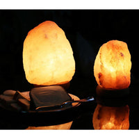 Natural-shaped Dimmable Himalayan Salt Lamps (Set of 2) - Desk Lamps