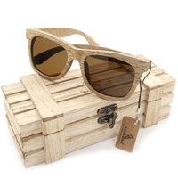 Oval New Polarized Mirror Eyewear Wooden Sunglasses - Sunglasses