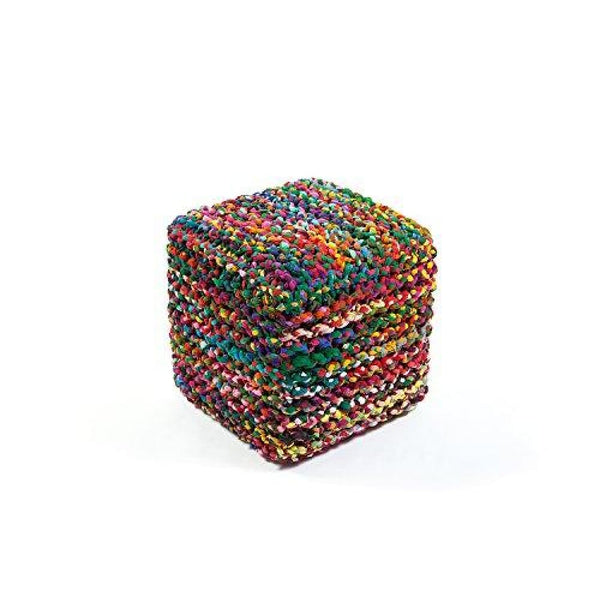 Rainbow Connection Cube Pouf Multicolor 18-Feet - Poufs
