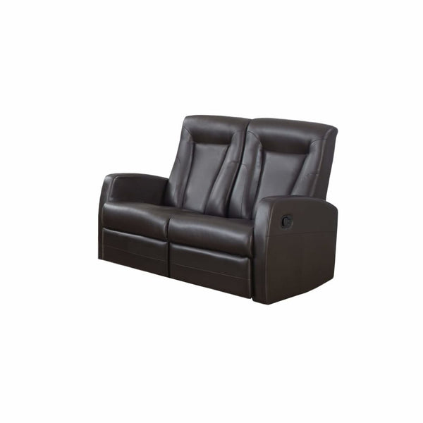 RECLINING - LOVESEAT BROWN BONDED LEATHER - Chairs Loveseats Futons Sofas Sectionals