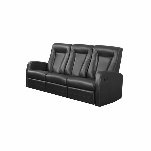 RECLINING - SOFA BLACK BONDED LEATHER - Chairs Loveseats Futons Sofas Sectionals