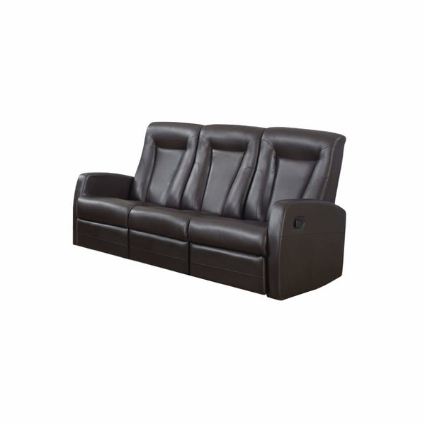 RECLINING - SOFA BROWN BONDED LEATHER - Chairs Loveseats Futons Sofas Sectionals