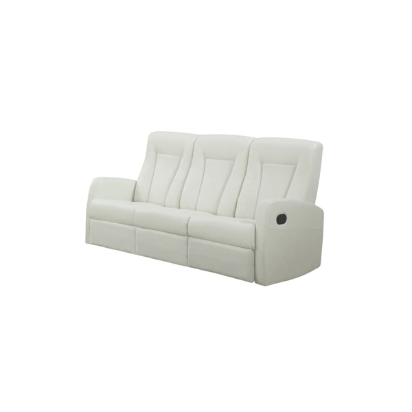 RECLINING - SOFA IVORY BONDED LEATHER - Chairs Loveseats Futons Sofas Sectionals