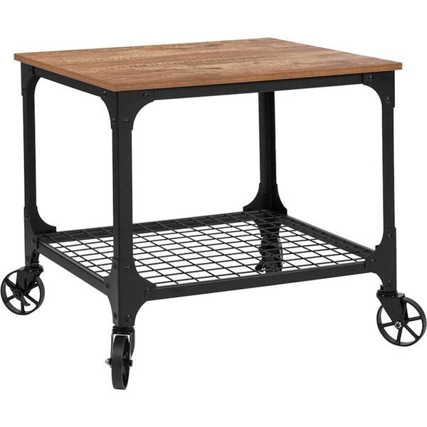 Rustic Wood Kitchen Bar Cart - Rustic - Serving Carts
