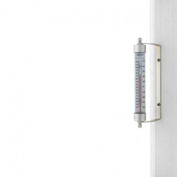 Satin Nickel Conant Decor Indoor/Outdoor Thermometer - Thermometers