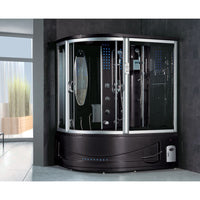 Siena Steam Shower (10 Year Warranty) - Black / Right - Steam Showers
