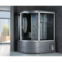 Siena Steam Shower (10 Year Warranty) - Grey / Right - Steam Showers
