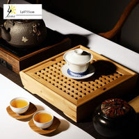 Small Tea Saucer Chinese Tray - Bamboo Tables & Trays