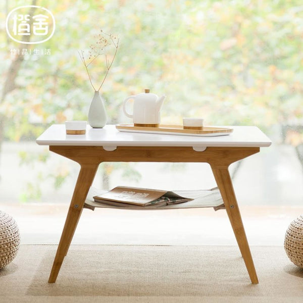 Square Coffee Table Bamboo Tea Table - Bamboo Tables & Trays