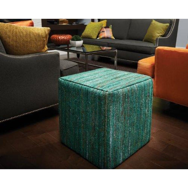 Square Pouf in Emerald Green - Poufs