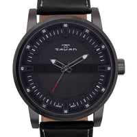 Tavan Haven Mens Watch Genuine Leather Strap Three Dimensional Dial - Watches