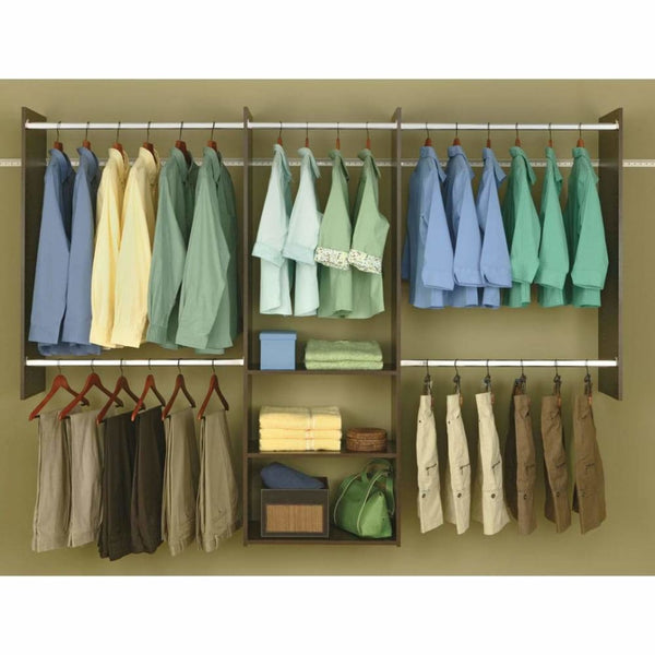Truffle 4 To 8 Easy Track Deluxe Starter Closet - Closet Organizers & Systems
