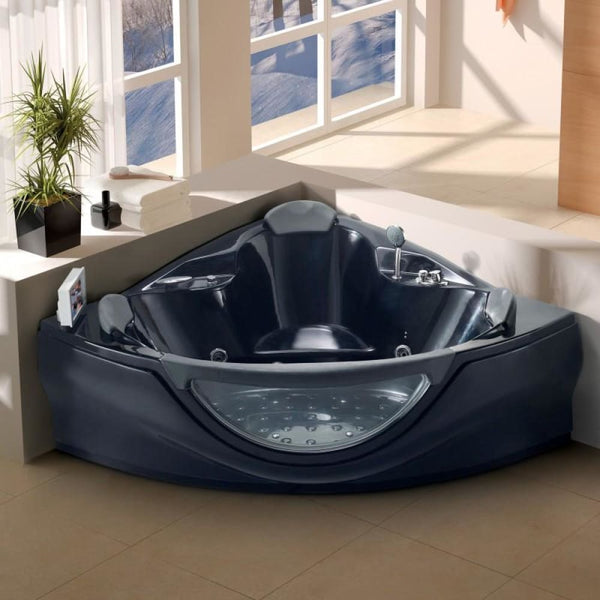 Venezia - Bath Tub (10 Year Warranty) - Black / Left - Bath Tubs