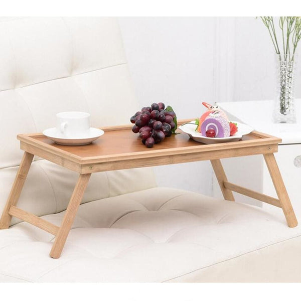 Vintage Natural Bamboo Folding Tea Coffee Table - Bamboo Tables & Trays