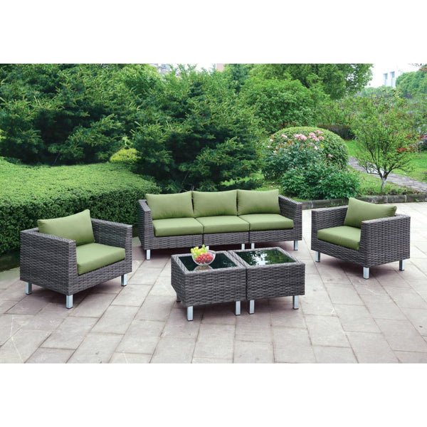 Virri Contemporary Style Outdoor Patio 5PC Outdoor Patio Lounge Set - Outdoor Patio Furniture