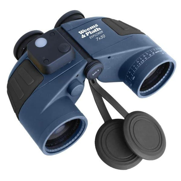 Weems EXPLORER 7 x 50 Binocular w/ Compass - Nautical & Weather Instruments