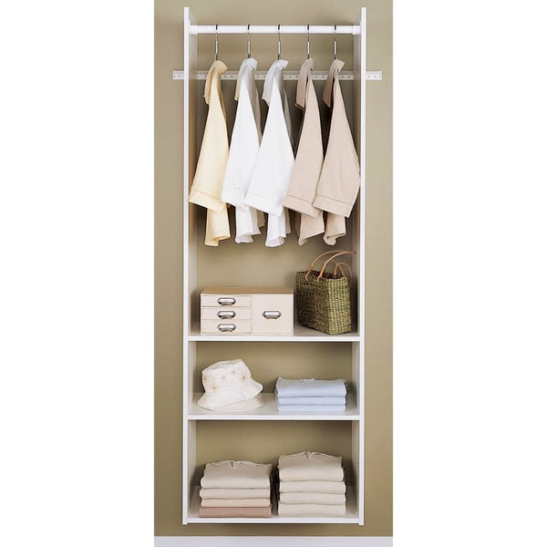 White 72 Easy Track Hanging Tower Kit - Closet Organizers & Systems