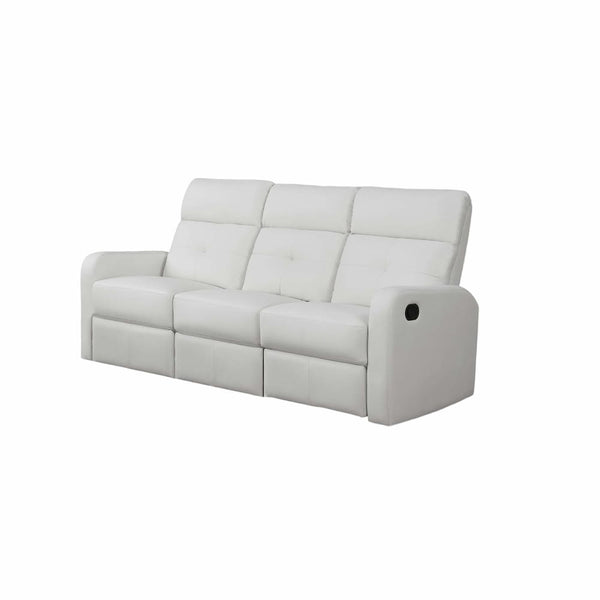 White Bonded Leather Reclining Sofa - Chairs Loveseats Futons Sofas Sectionals