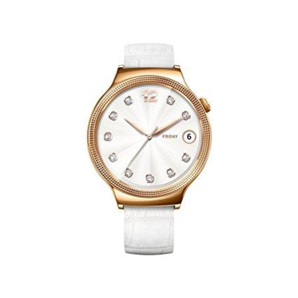 White Huawei Smartwatch for iPhone Android Smartphones - Retail Packaging - Gold/Pearl (Used Like New) - Watches
