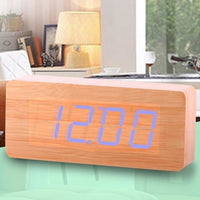 Wooden Alarm Clock LED Digital - Blue Light - Alarm Clocks
