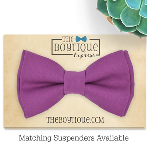 Cassis Bow Tie and Suspenders