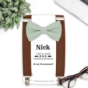 Dusty Sage Bow Tie in GN50