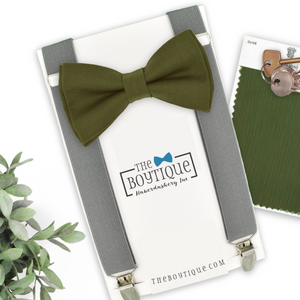 Olive Green Bow Tie in GN1