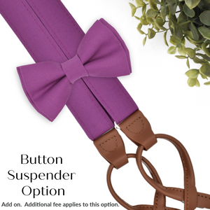 cassis button on suspenders