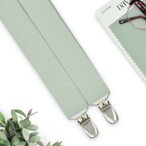 dusty sage suspenders