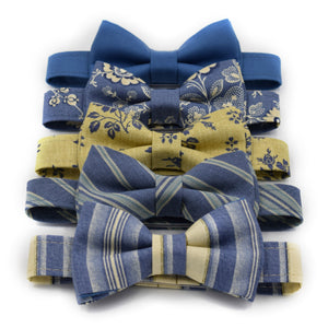 steel blue bow ties