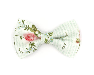 dusty sage floral bow tie