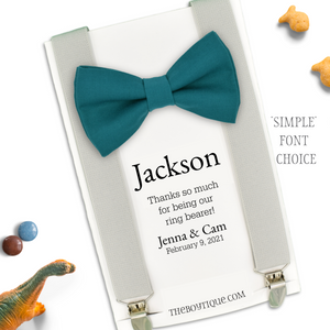 Ring Bearer gift (Add On), Personalized, Customized, Wedding Favor, Bridal Party Gift, Bow Tie and Suspenders
