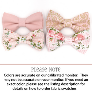 Blush Bow Tie in Paisley