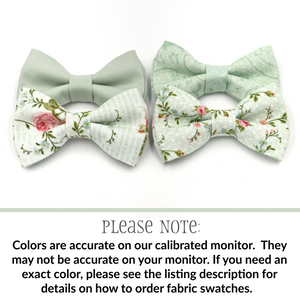 dusty sage bow ties