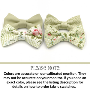 Light Sage Bow Ties