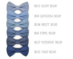 blue bow ties for wedding