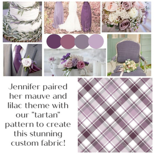 wedding planning custom fabric