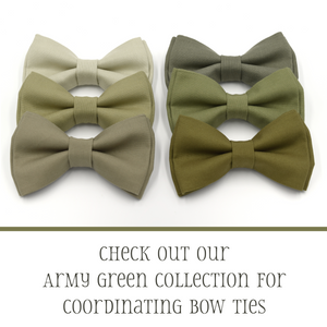 khaki wedding bow ties