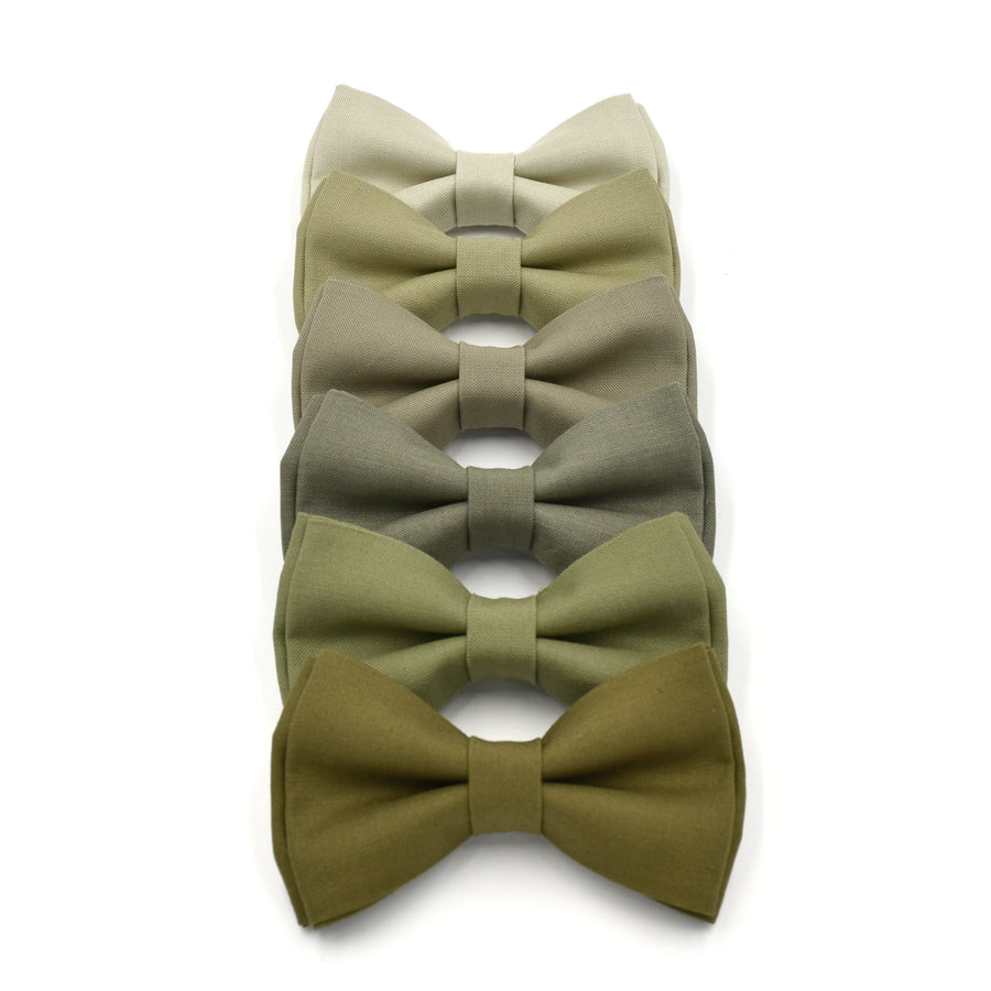 army green bow ties