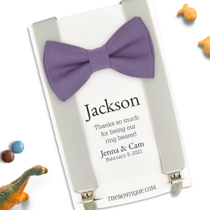 violet ring bearer bow tie