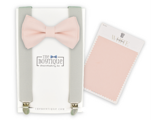 david's bridal blush bow tie