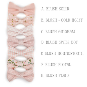 blush bowties
