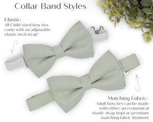Dusty Sage Green Bow Tie in Polka Dot