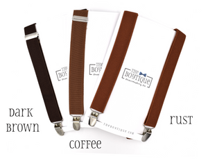 brown suspenders