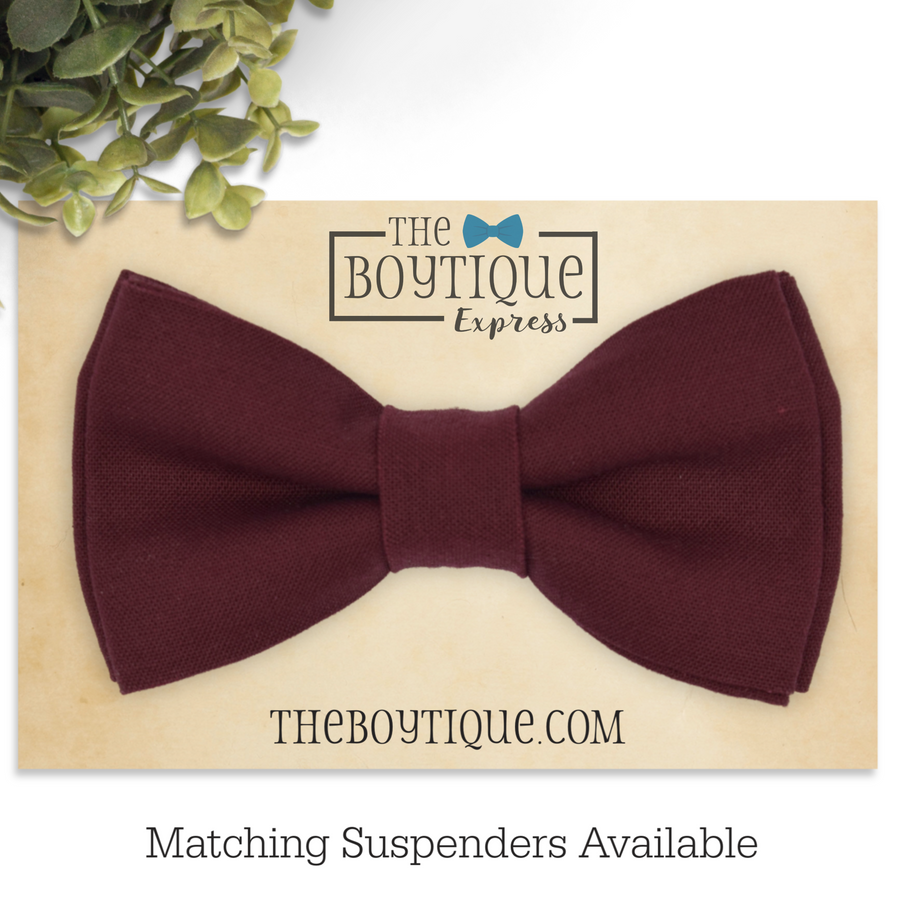 wine bow tie david's bridal