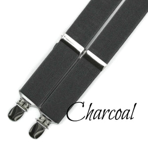 Men's Charcoal Suspenders and Braces