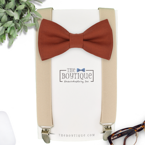 david's bridal cinnamon bow tie
