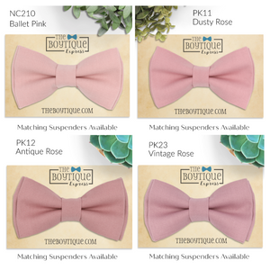 Pink Bow Ties - 21 Colors