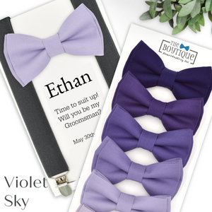 Lavender Bow Ties and Suspenders